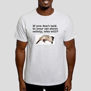 Talk to Your Cat Ash Grey T-Shirt