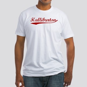 Halliburton (red vintage) Fitted T-Shirt