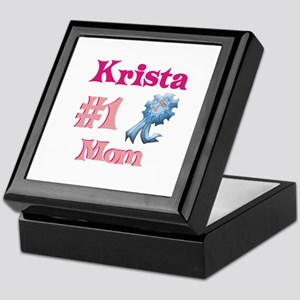 Krista - #1 Mom Keepsake Box