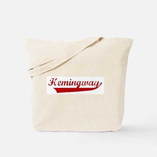 Hemingway (red vintage) Tote Bag