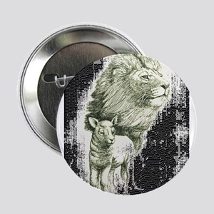 Lion and the lamb Button