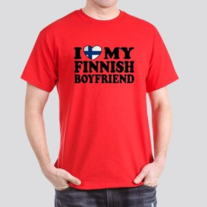I Love My Finnish Boyfriend Dark T-Shirt
