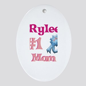 Rylee - #1 Mom Oval Ornament