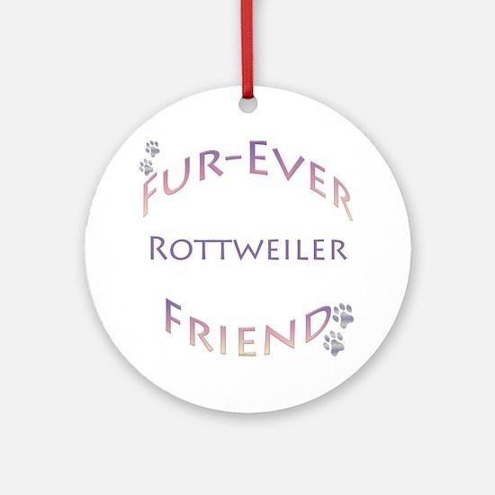 Rottweiler Furever Ornament (Round)