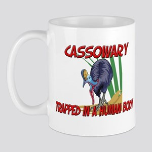 Cassowary trapped in a human body Mug
