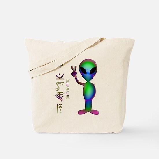 Alien Peace Dudes 14 Tote Bag