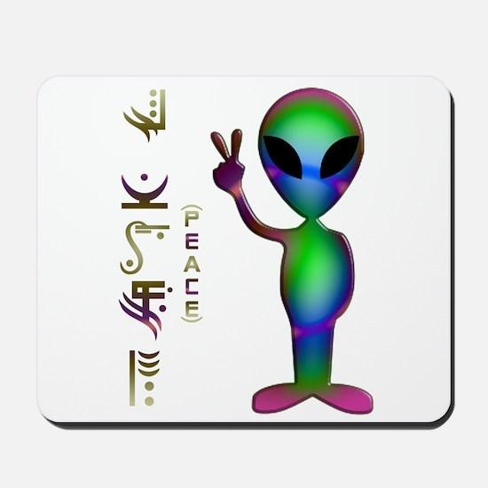 Alien Peace Dudes 14 Mousepad