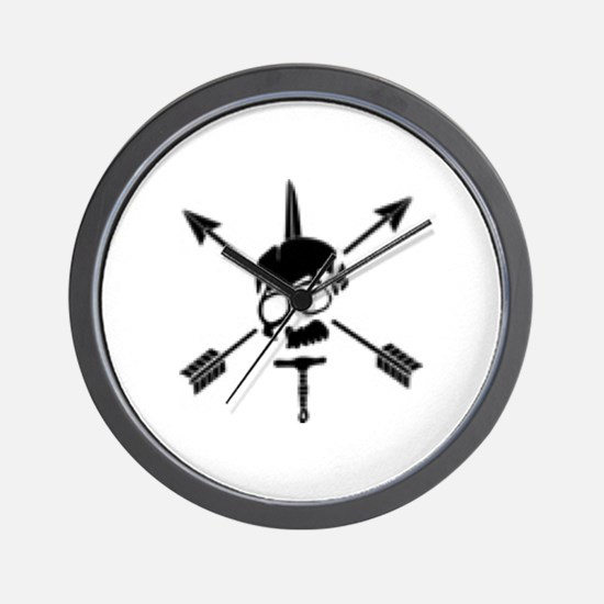 Special Forces Skull Wall Clock
