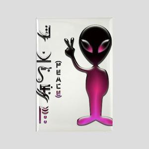 Alien Peace Dudes 16 Rectangle Magnet