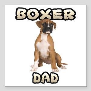 "Boxer Dad Square Car Magnet 3"" x 3"""