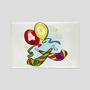 40th birthday Rectangle Magnet