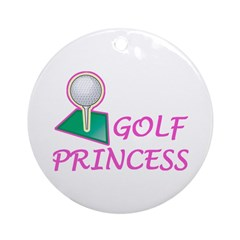Golf Princess Ornament (Round)