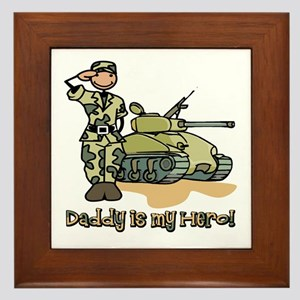 Daddy is my hero! Framed Tile