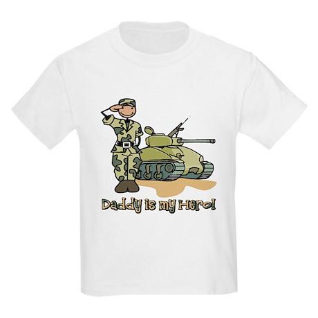 Daddy is my hero! Kids Light T-Shirt