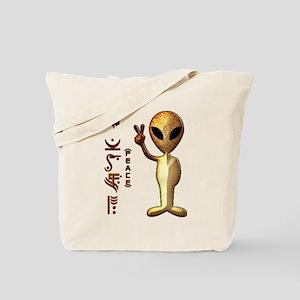 Alien Peace Dudes 8 Tote Bag