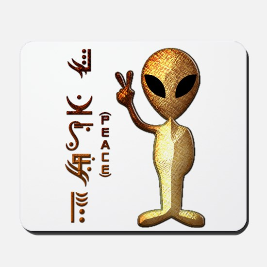 Alien Peace Dudes 8 Mousepad