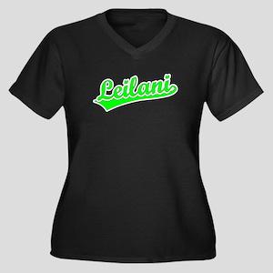 Retro Leilani (Green) Women's Plus Size V-Neck Dar