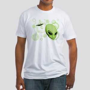 A.L.I.E.N. Language Lime Fitted T-Shirt