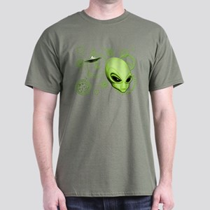 A.L.I.E.N. Language Lime Dark T-Shirt