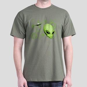 A.L.I.E.N. Language Lime Dark T-Shirt