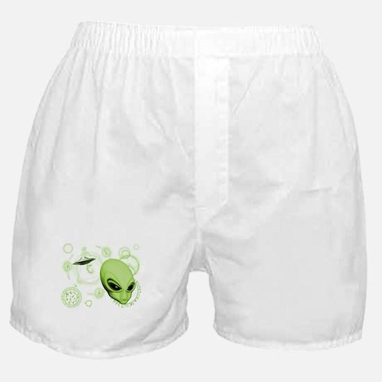A.L.I.E.N. Language Lime Boxer Shorts