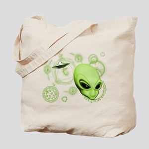 A.L.I.E.N. Language Lime Tote Bag