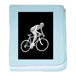 Bicycle Racing Abstract Silhouette Print baby blan