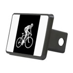 Bicycle Racing Abstract Silhouette Print Rectangul