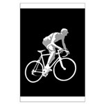 Bicycle Racing Abstract Silhouette Print Poster