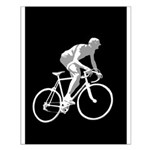 Bicycle Racing Abstract Silhouette Print Small Pos