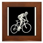Bicycle Racing Abstract Silhouette Print Framed Ti