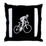 Bicycle Racing Abstract Silhouette Print Throw Pil