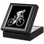 Bicycle Racing Abstract Silhouette Print Keepsake