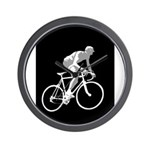 Bicycle Racing Abstract Silhouette Print Wall Cloc