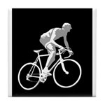 Bicycle Racing Abstract Silhouette Print Tile Coas