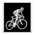 Bicycle Racing Abstract Silhouette Print Tile Coas