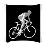 Bicycle Racing Abstract Silhouette Print Woven Thr