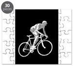Bicycle Racing Abstract Silhouette Print Puzzle