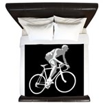 Bicycle Racing Abstract Silhouette Print King Duve