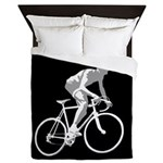 Bicycle Racing Abstract Silhouette Print Queen Duv