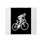 Bicycle Racing Abstract Silhouette Print Throw Bla