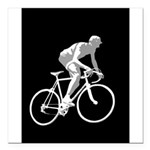 Bicycle Racing Abstract Silhouette Print Square Ca