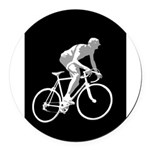 Bicycle Racing Abstract Silhouette Print Round Car