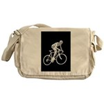 Bicycle Racing Abstract Silhouette Print Messenger