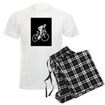 Bicycle Racing Abstract Silhouette Print Pajamas