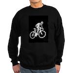 Bicycle Racing Abstract Silhouette Print Sweatshir