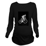 Bicycle Racing Abstract Silhouette Print T-Shirt