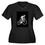 Bicycle Racing Abstract Silhouette Print Plus Size