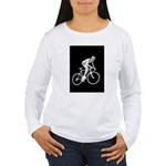 Bicycle Racing Abstract Silhouette Print Long Slee