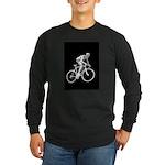 Bicycle Racing Abstract Silhouette Print Long Slee